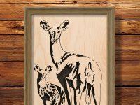 """Looking Back"" Deer Portrait"
