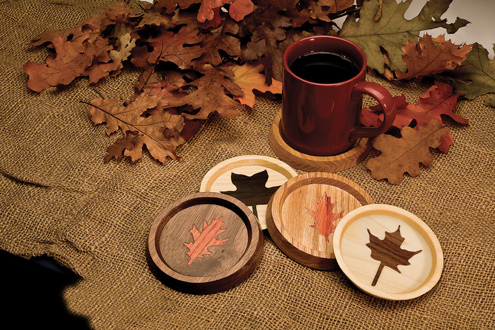 Autumn Leaves Coasters Scroll Saw Woodworking Crafts