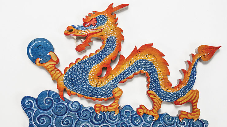 Painting a Chinese Dragon Puzzle