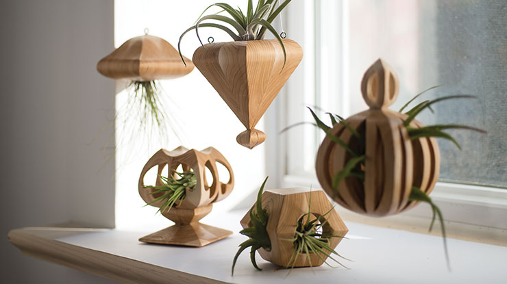 How to Make Simple Wooden Air Plant Holders