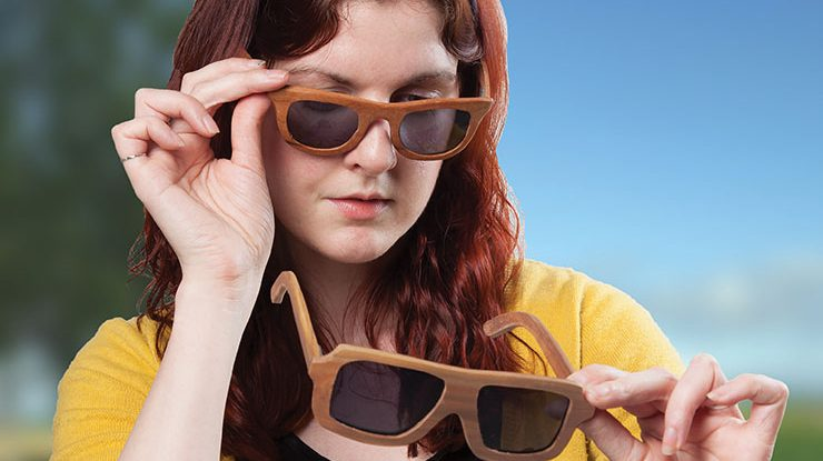 Scroll Your Own Wooden Sunglasses