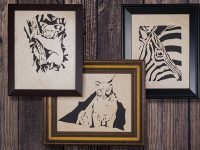 Cute Fretwork Animal Portraits