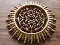 Geometric Sunburst Fretwork
