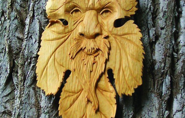 Undercutting around the beard adds shadow and depth.