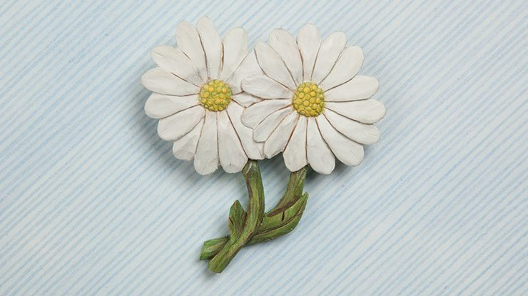 Carving a Daisy Pin