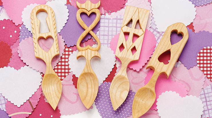 Carving Miniature Welsh Lovespoons