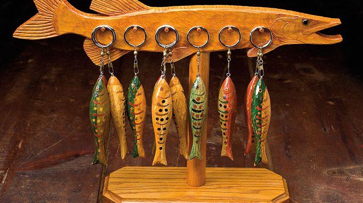 Carving Folk Art Fish Keychains