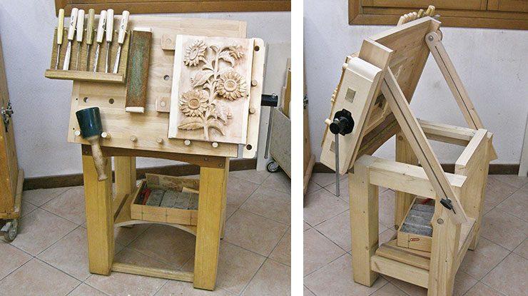 Custom-Build a Tilting Carving Table