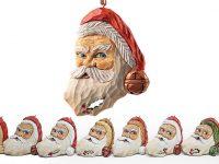 Watchful Santa Ornament